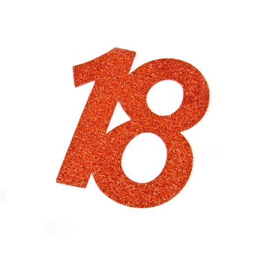 Chiffre anniversaire 18ans rouge