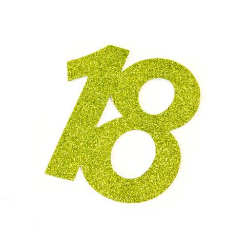 Chiffre anniversaire 18ans vert