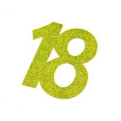 Chiffre anniversaire vert 18ans (x2) REF/DEC754/18