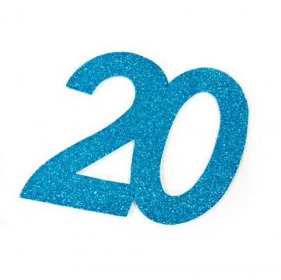 Chiffre anniversaire bleu 20ans (x1) REF/DEC754/20