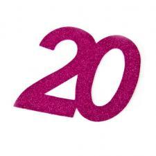 Chiffre anniversaire fuchsia 20ans (x2) REF/DEC754/20