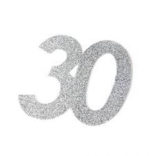 Chiffre anniversaire argent 30ans (x2) REF/DEC754/30