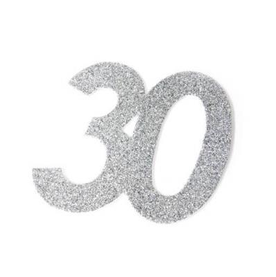 Chiffre anniversaire argent 30ans (x1) REF/DEC754/30