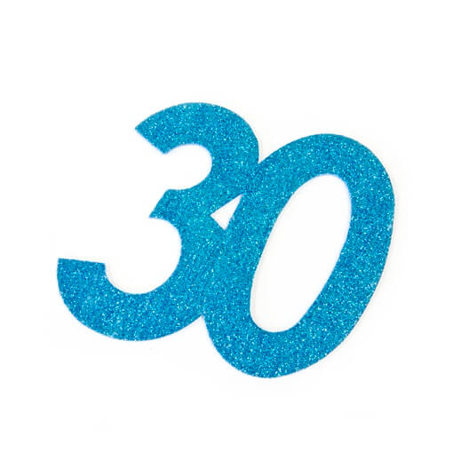 Chiffre anniversaire 30ans bleu turquoise
