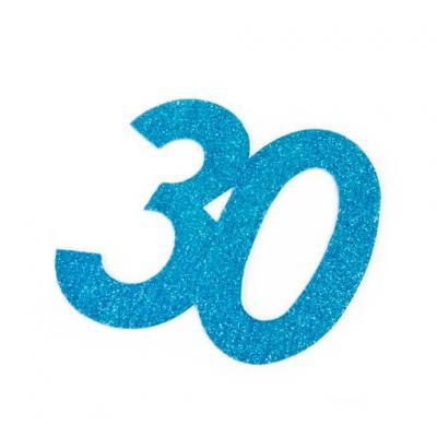 Chiffre anniversaire bleu 30ans (x1) REF/DEC754/30