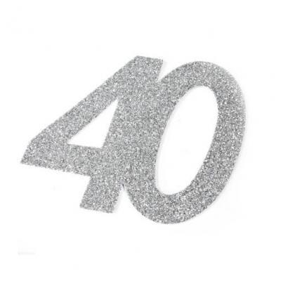 Chiffre anniversaire argent 40ans (x2) REF/DEC754/40
