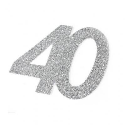 Chiffre anniversaire argent 40ans (x1) REF/DEC754/40