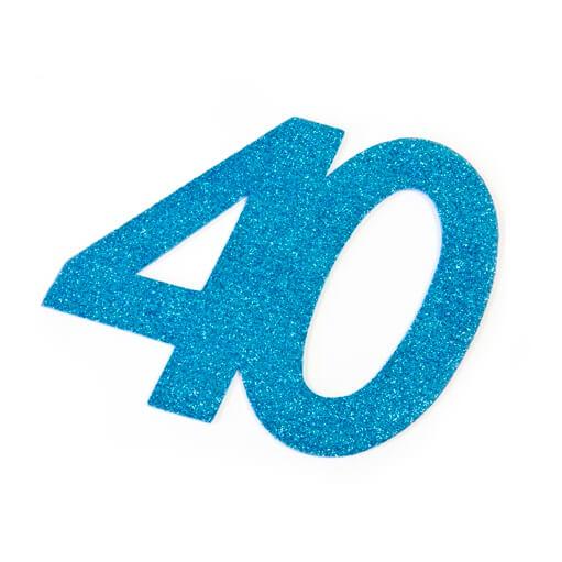 Chiffre anniversaire 40ans bleu turquoise