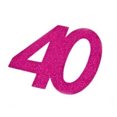 Chiffre anniversaire fuchsia 40ans (x2) REF/DEC754/40