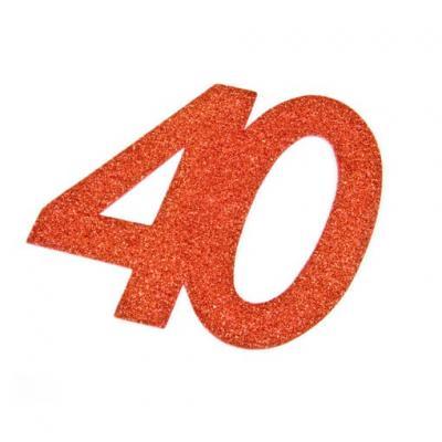 Chiffre anniversaire rouge 40ans (x1) REF/DEC754/40