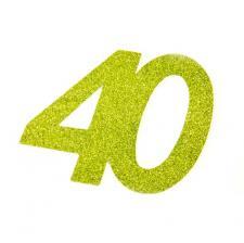 Chiffre anniversaire vert 40ans (x2) REF/DEC754/40