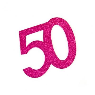 Chiffre anniversaire fuchsia 50ans (x2) REF/DEC754/50