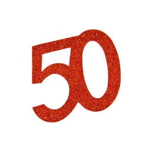 Chiffre anniversaire 50ans rouge