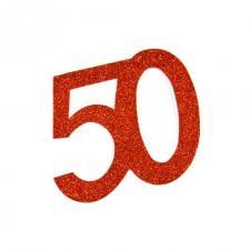 Chiffre anniversaire rouge 50ans (x2) REF/DEC754/50