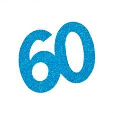 Chiffre anniversaire bleu 60ans (x2) REF/DEC754/60