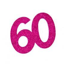 Chiffre anniversaire fuchsia 60ans (x2) REF/DEC754/60