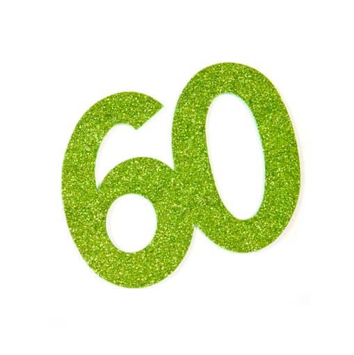Chiffre anniversaire 60ans vert