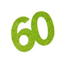 Chiffre anniversaire vert 60ans (x2) REF/DEC754/60