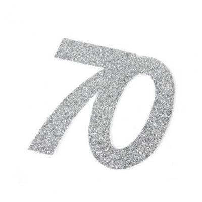 Chiffre anniversaire argent 70ans (x2) REF/DEC754/70