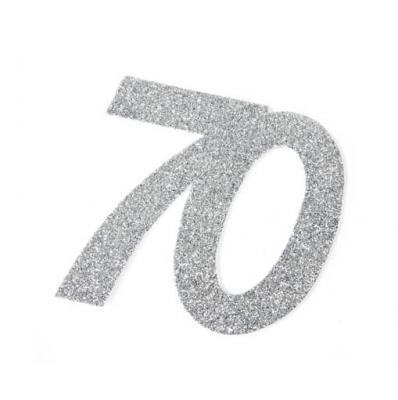Chiffre anniversaire argent 70ans (x1) REF/DEC754/70