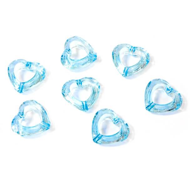 Coeur bleu turquoise avec perforation