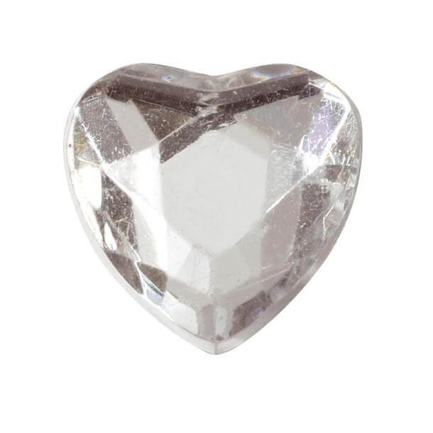 Coeur diamant transparent 1cm