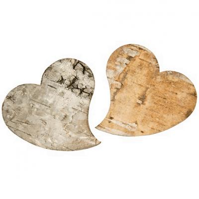 Coeur en écorce de bois (x10) REF/DEC915