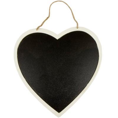 Mariage: Coeur géant ardoise à suspendre 26cm (x1) REF/DEK0053
