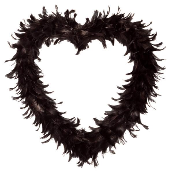 Coeur plume noir