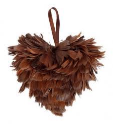 Coeur plumes chocolat (x1) REF/3307