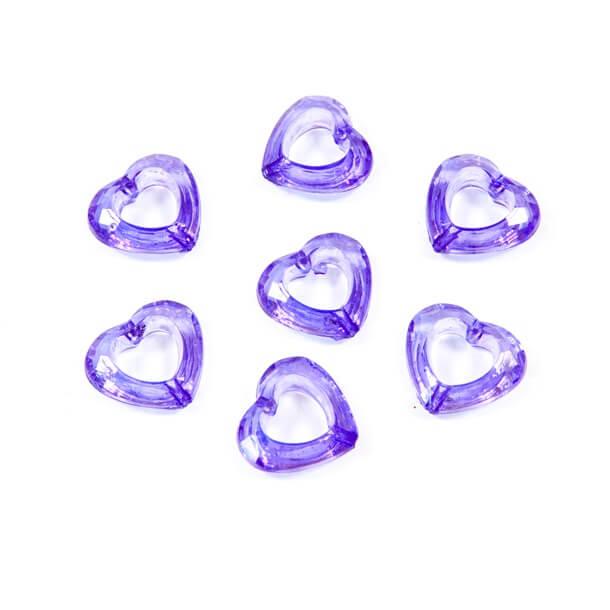 Coeur prune avec perforation