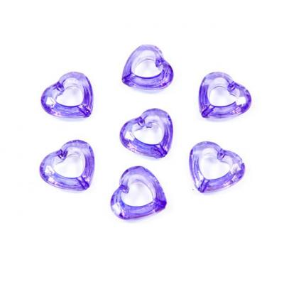 Coeur prune avec perforation (x20) REF/DEC586