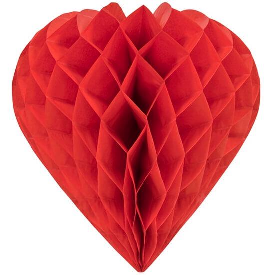 Coeur rouge en papier pour decoration