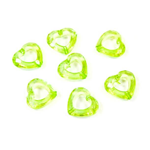 Coeur vert avec perforation