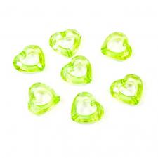 Coeur vert avec perforation (x20) REF/DEC586