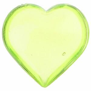 Coeur vert translucide (x12) REF/3853