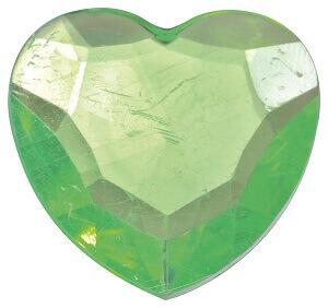 Coeurs diamant vert
