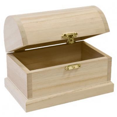 Coffre en bois naturel (x1) REF/DEC877