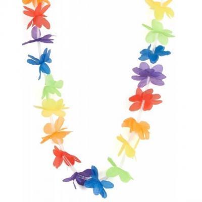 Collier de fleurs Hawaïen multicolore (x1) REF/FUC106