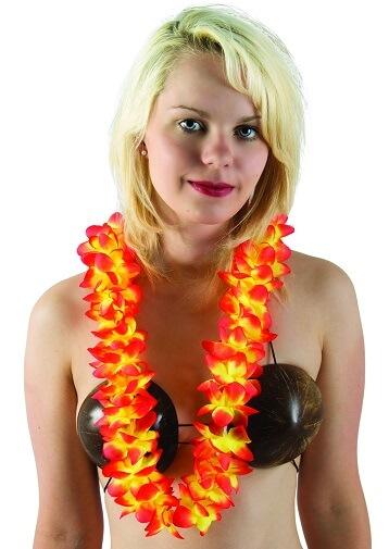 Collier hawaien orange
