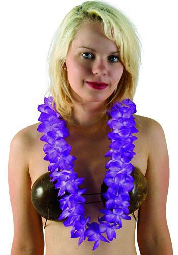 Collier hawaien violet