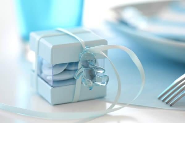 Confection de dragee bleu ciel