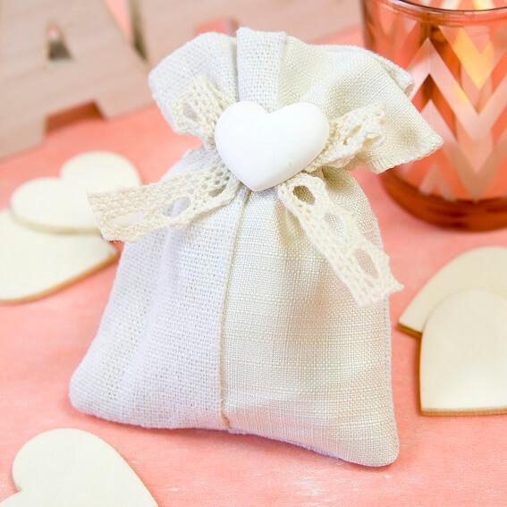 Confection de dragee mariage coeur 3