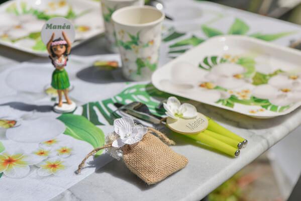 Confection de dragee orchidee blanche