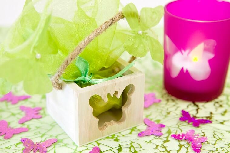 Confection de dragee papillon