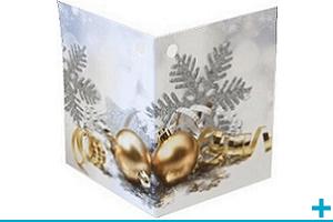 Confection de dragees avec etiquette noel et nouvel an