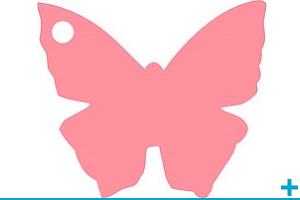 Confection de dragees avec etiquette papillon