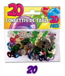 Confettis de table anniversaire 20ans (x10grs) REF/CT03