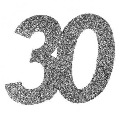 Confettis pailleté anniversaire argent 30ans (x6) REF/4532