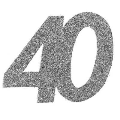 Confettis pailleté anniversaire argent 40ans (x6) REF/4532